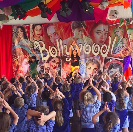 School workshop in Bollywood